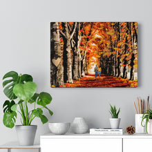 """Fall Forward"" Canvas Art ( Couple on an Autumn Path)"
