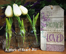 "Shabby Chic Sign ""Mother You are Loved"""