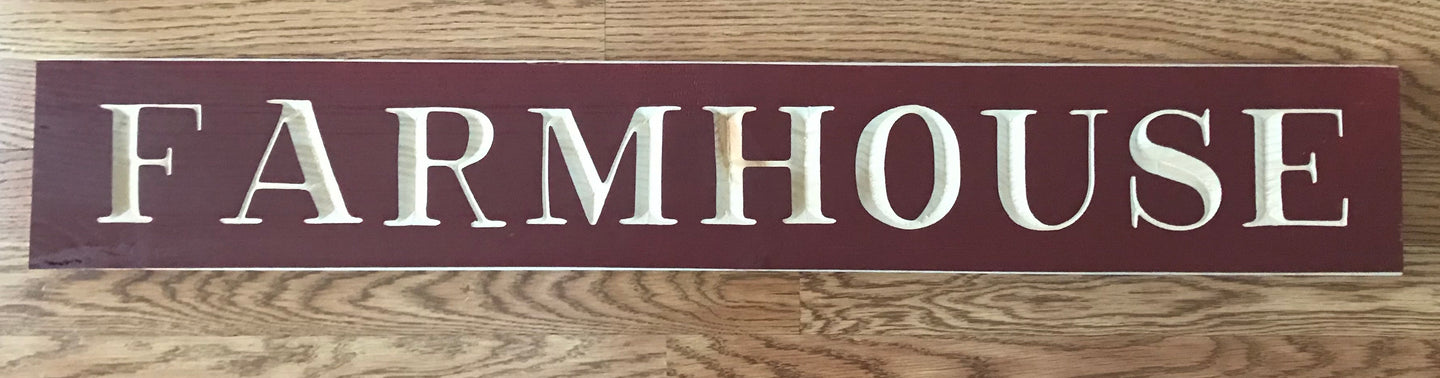 Farmhouse Extra Large Router Sign (Barn Red)