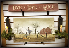 "Router Sign 2' Foot ""Live Love Laugh"""