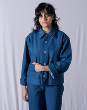 Hiyo Jacket in Dark Blue Denim