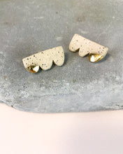 barrow pdx earrings Cloud Studs in Freckled Ceramic