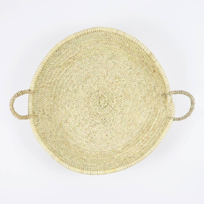 Moroccan Straw Woven Plate - Large