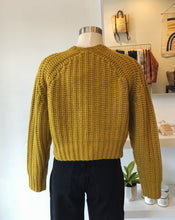 Chunky Cropped Jumper in Mustard
