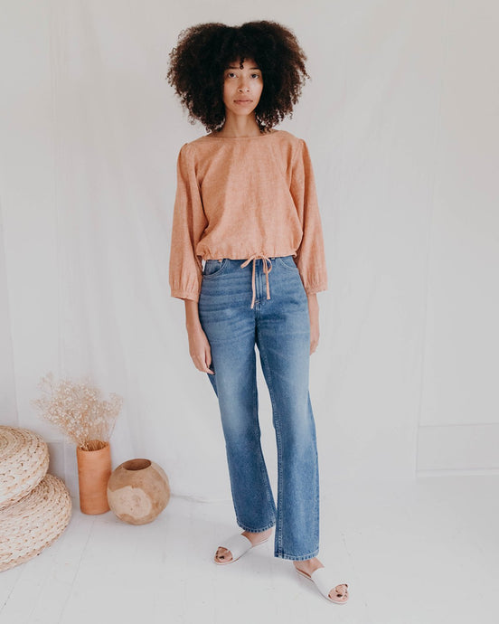 Marie Top in Vintage Brick