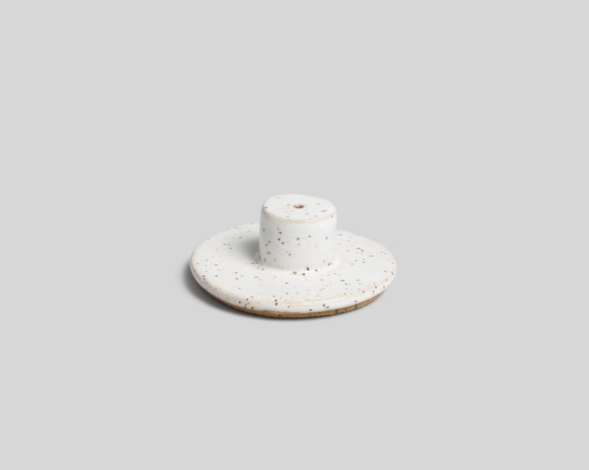 Norden White Speckle Ceramic Incense Burner