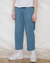 Slack Pants in Light Blue Denim