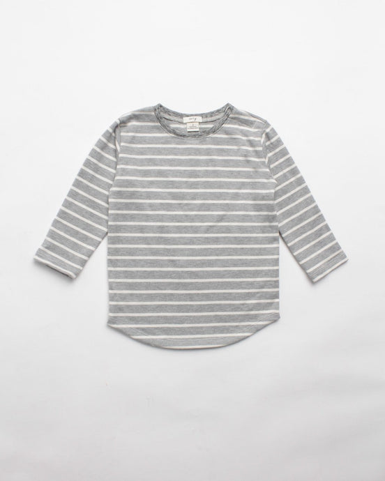 The Stripe Tee in Grey