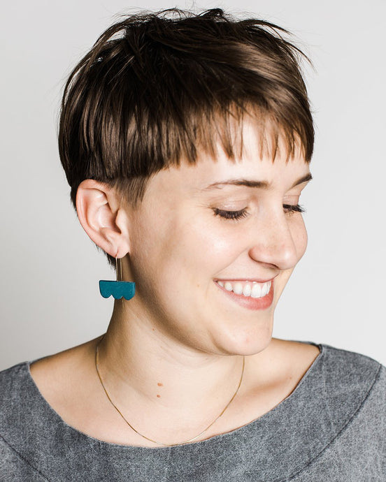 barrow pdx Cloud Drop Earrings in Naples Blue porcelain