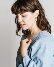 barrow pdx Wavy Studs in Speckled Ceramic earrings
