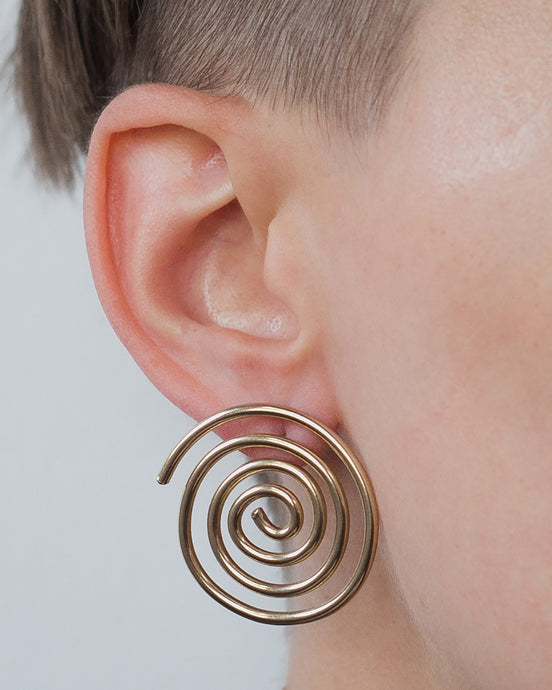 Spiral Sun Earrings