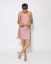 Tiered Tank Dress in Rose
