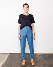 me & arrow Tomboy Pants in Washed Vintage Denim