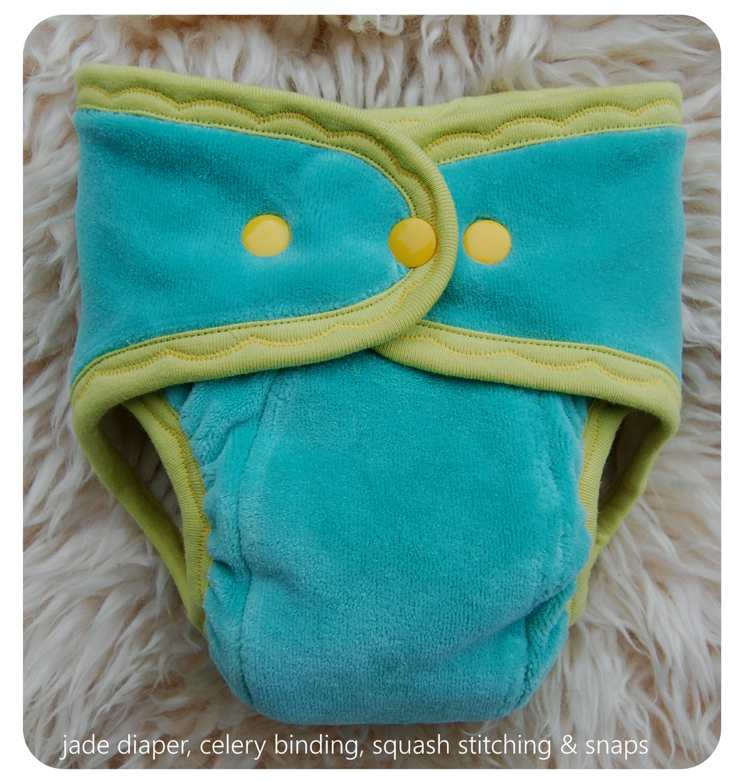 Ready to Ship ~Medium Hand dyed Fitted Cloth Diaper