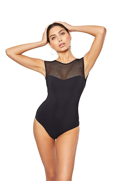 Laamu Mesh One-Piece, Black