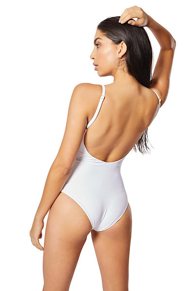 Penelope Lattice One-Piece, White