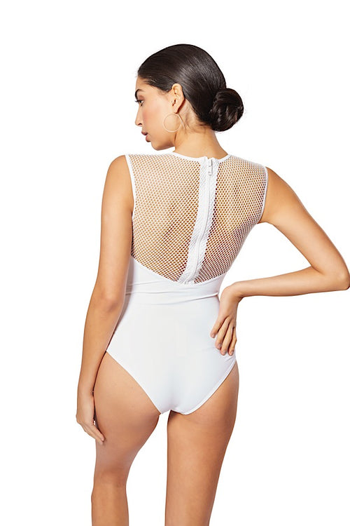 Laamu Mesh One-Piece, White