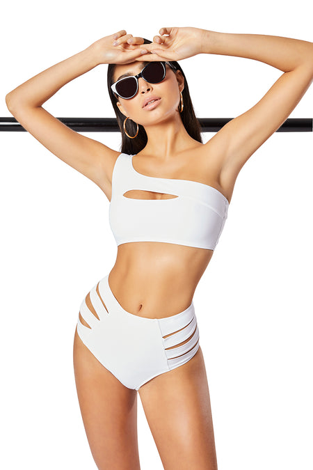 The Molly Bikini Top, Solid White