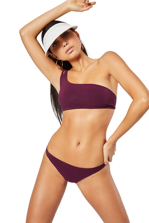 The Molly Bikini Top, Solid Burgundy