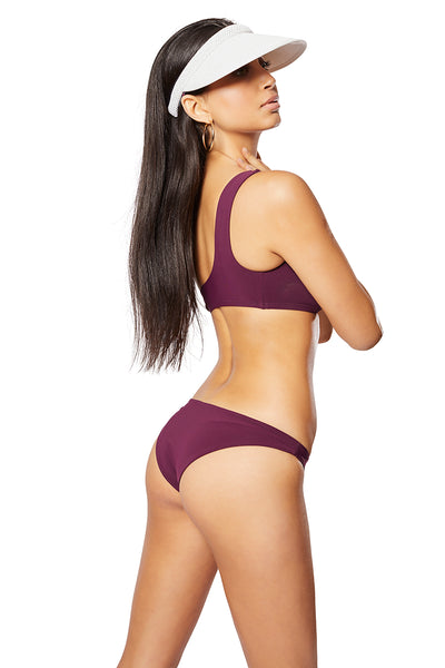 The Molly Low Rise Brief, Solid Burgundy