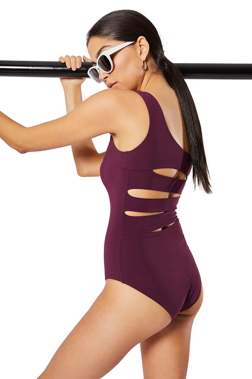 The Solitaire One-Piece,  Solid Burgundy