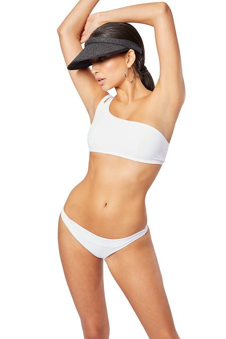 The Elektra Cut-out High Rise Brief, Solid White