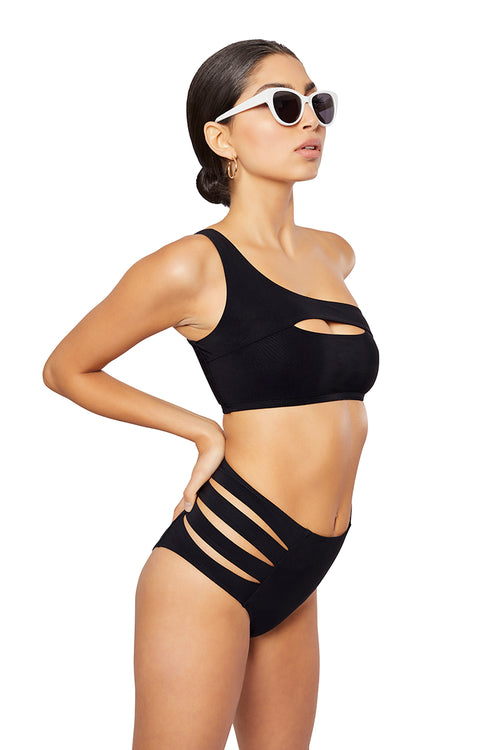 The Elektra Bikini Top, Solid black