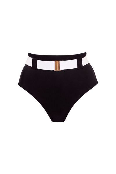 The Honey High Rise Brief, Black/Contrast White