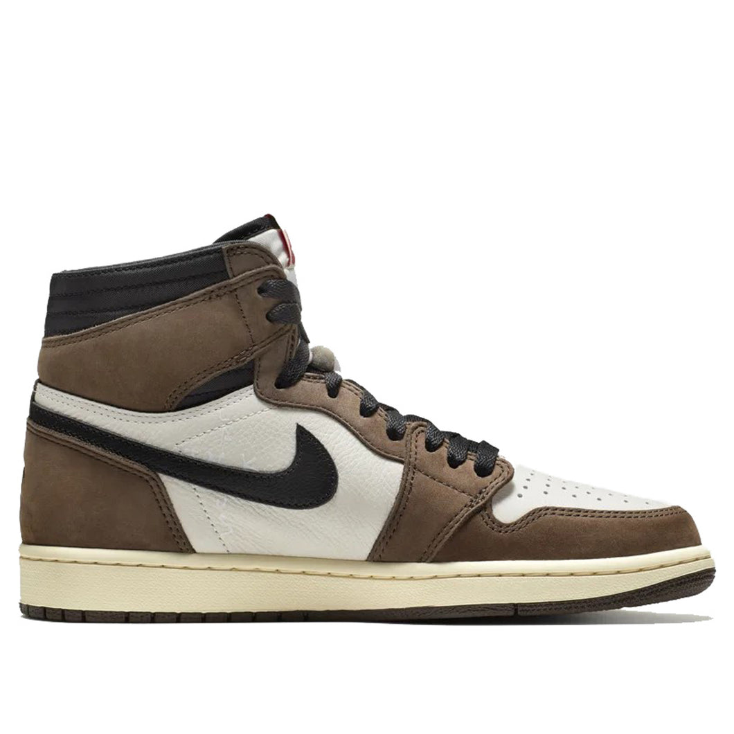 a674cbed3fe76 Travis Scott x Nike Air Jordan 1 High OG (Sail Black Dark Mocha