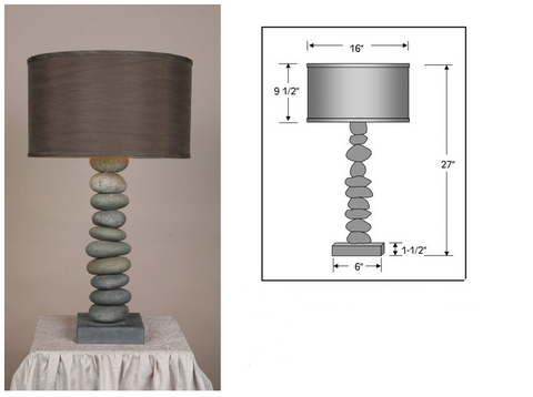 Modirondack Basalt Table Lamp