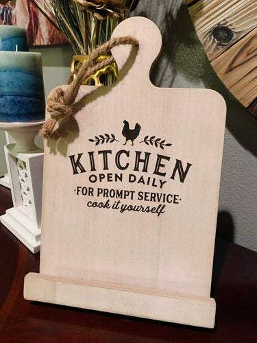 Prompt Service Cookbook Stand - Southern Grace Shoppe