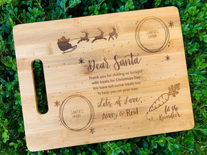 Dear Santa Custom Cutting Board - Southern Grace Shoppe