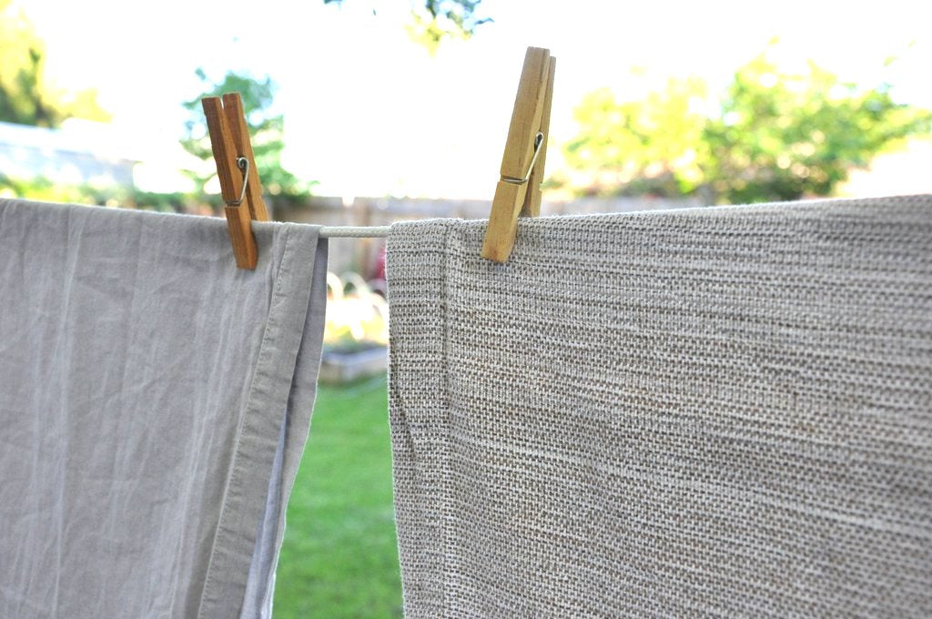 how to care for your linens clothes line
