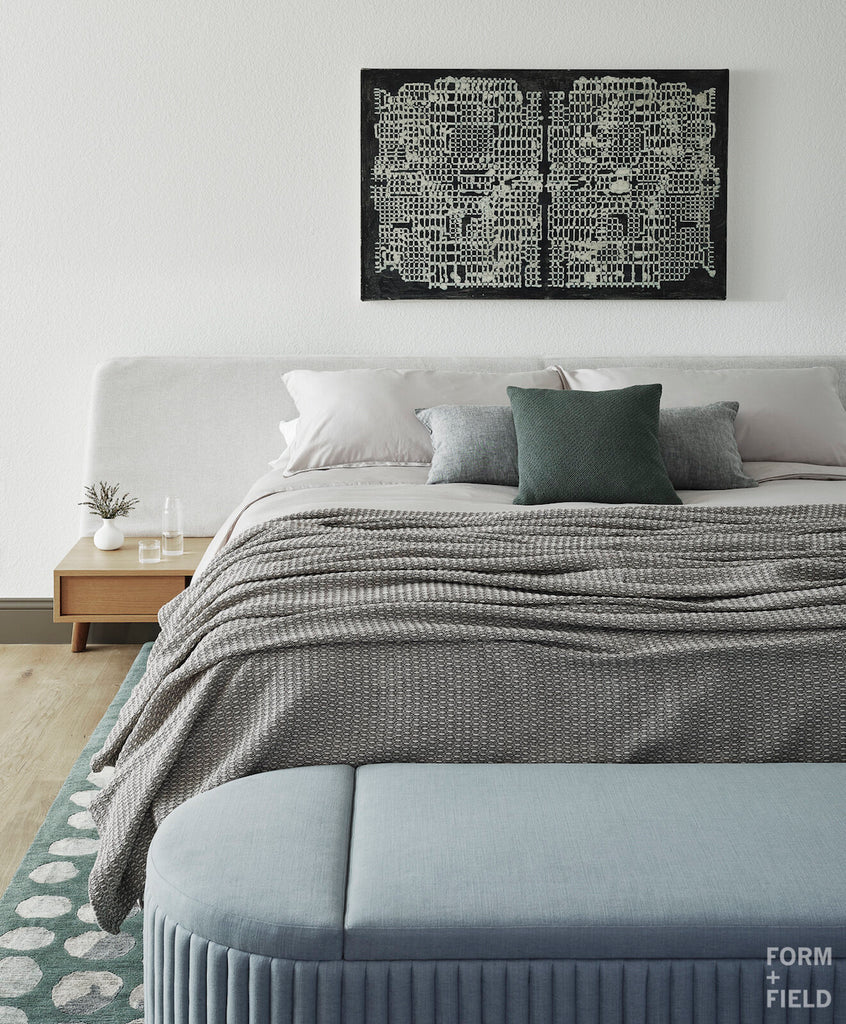 Form + Field how to use white with THEO blanket by AREA home bedding