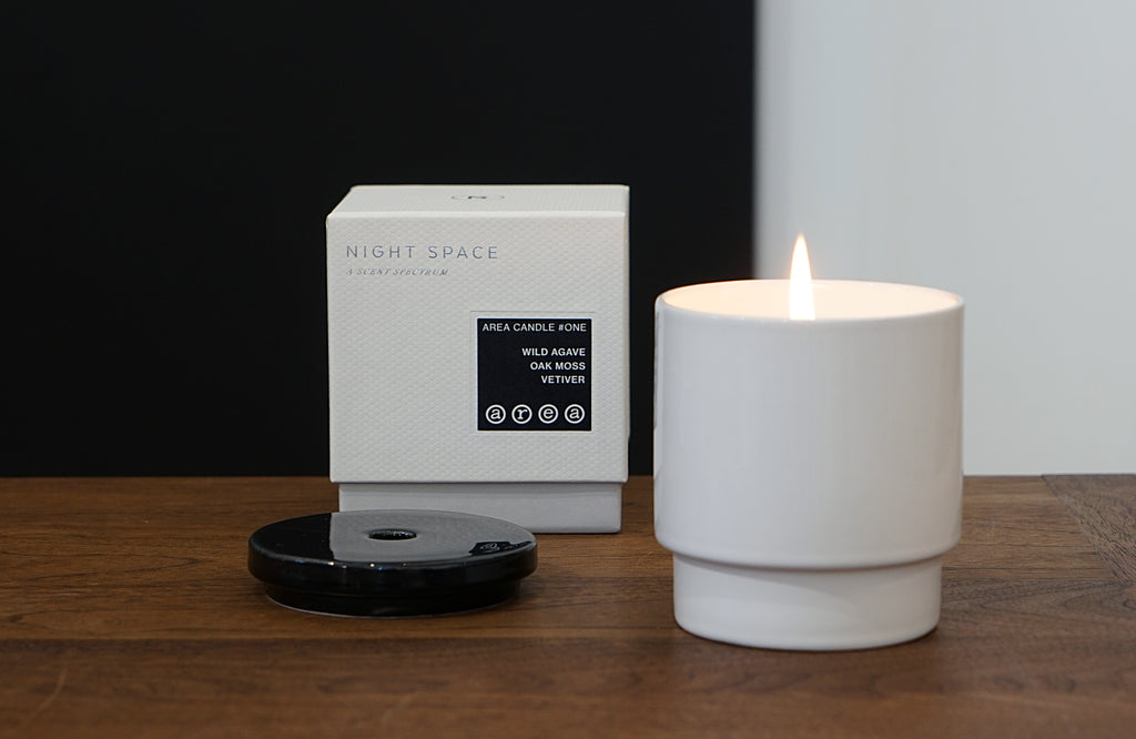 AREA candle #one lit with box