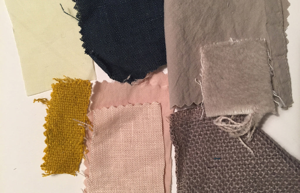PLAY linen euro square swatches for color inspiration