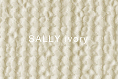 SALLY ivory cotton waffle weave blanket