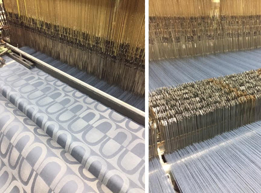Textile design on the loom