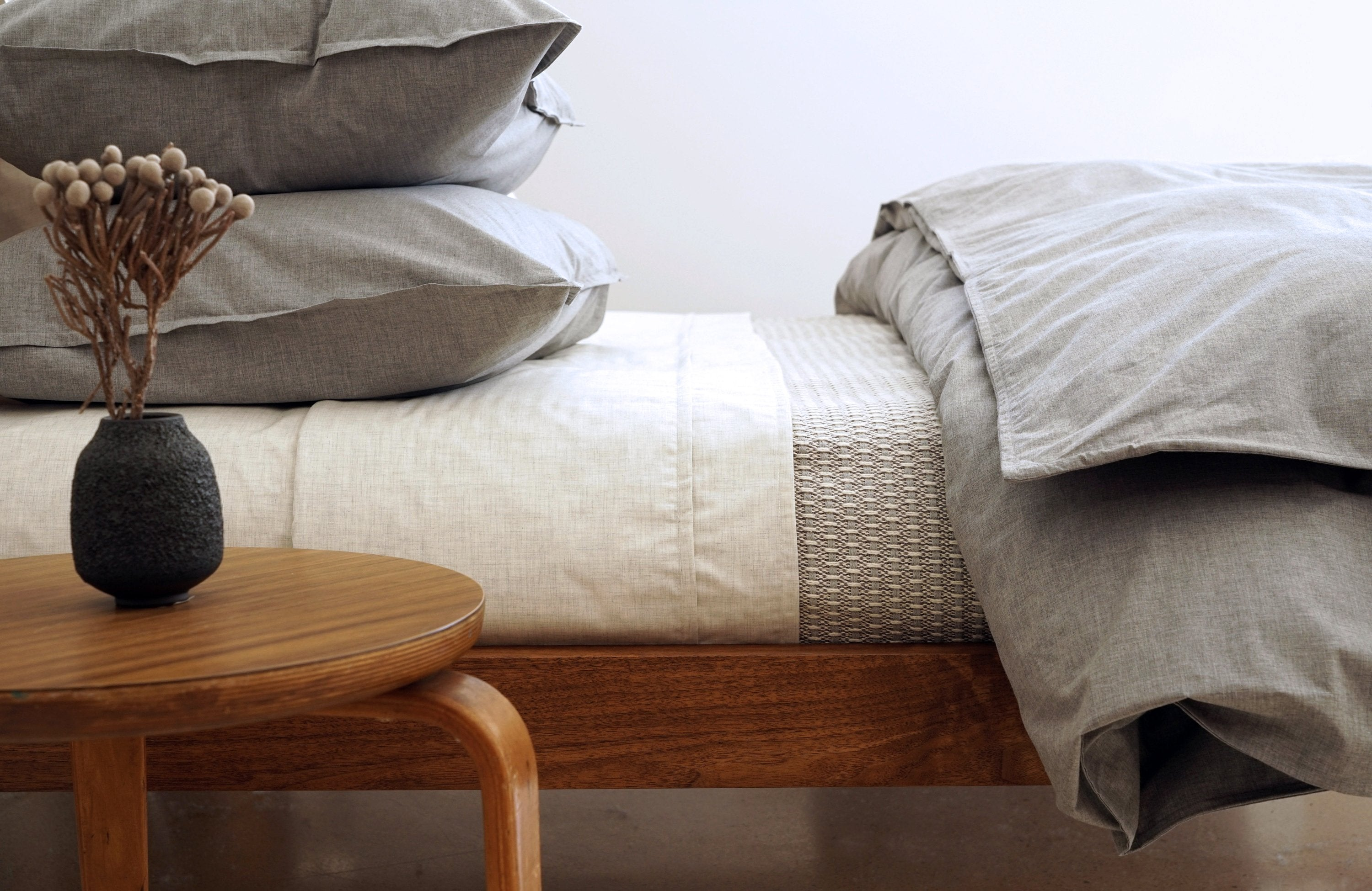HEATHER duvet cover - king / cement