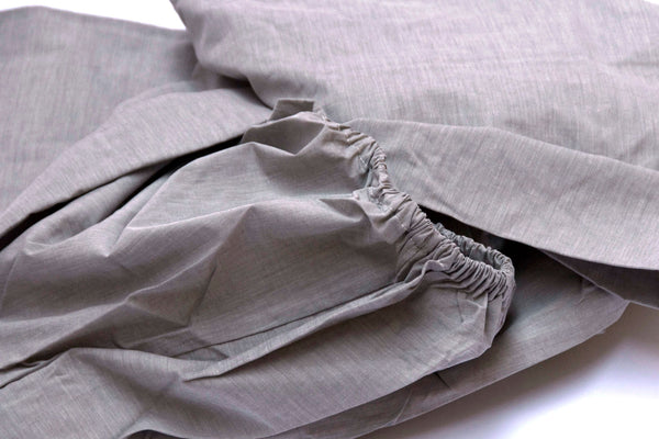 PARALLEL grey fitted sheet