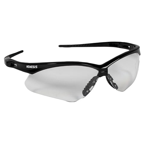 Jackson Safety | Nemesis Safety Glasses, Clear Lenses with Black Frame (#25676)