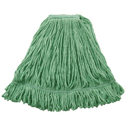 J. W. Atomic Loop Wet Mop, Tape Band, Green (#A02813)