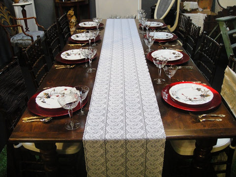 Lace Scroll Table Runners (#1027) - Vintage Affairs - Vintage By Design LLC