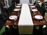 White Jute Burlap Table Runners (#1032A) - Vintage Affairs - Vintage By Design LLC