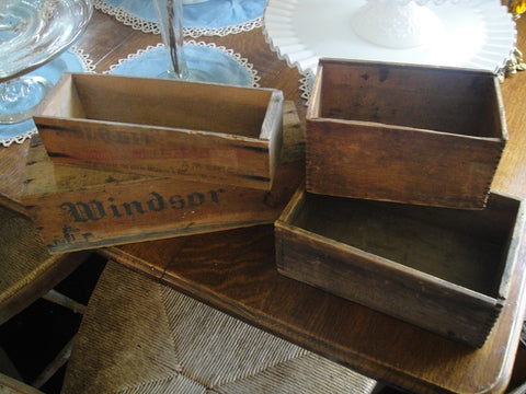 Vintage Small Cheese Crates - Vintage Affairs - Vintage By Design LLC