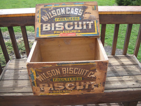 Wilson Biscuit Crate - Vintage Affairs - Vintage By Design LLC
