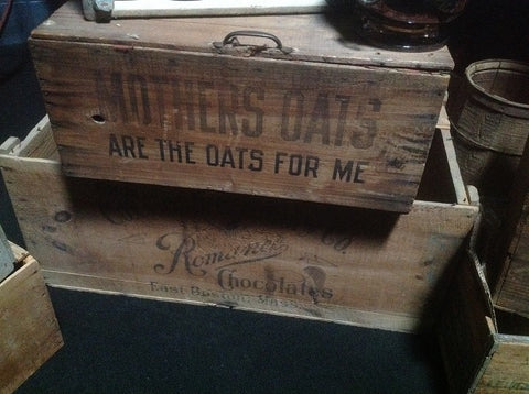 Large Vintage Romance Chocolate Crate - Vintage Affairs - Vintage By Design LLC