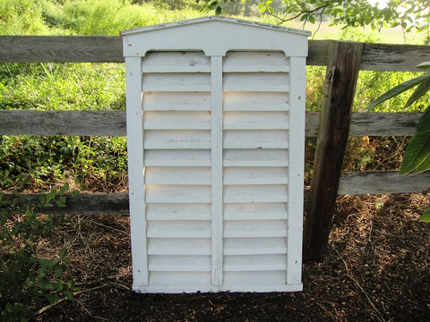 Large White Barn Vent (#1081) - Vintage Affairs - Vintage By Design LLC