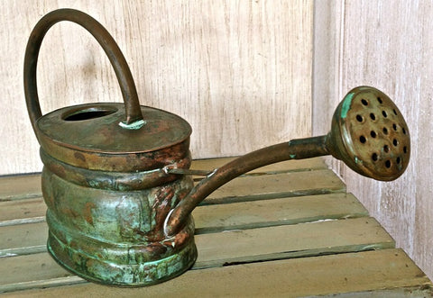 Vintage Small Copper Watering Can - Vintage Affairs - Vintage By Design LLC
