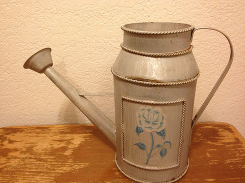 Vintage Painted Flower Watering Can - Vintage Affairs - Vintage By Design LLC